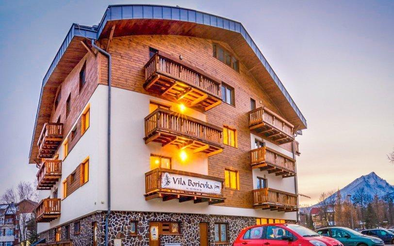 Vysoké Tatry pro rodiny ve Vile Borievka blízko ski areálů  + 2 děti v ceně